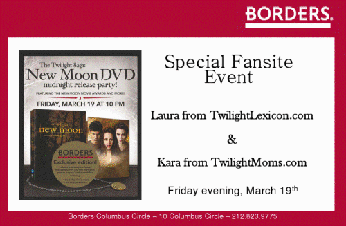 Borders New Moon DVD Podcast
