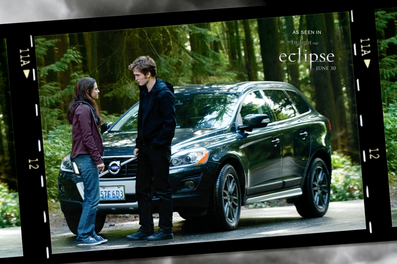 A Look At Edward And Bella In Front Of The Volvo