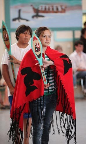 Quileute Nation Members on Museum Display Opening