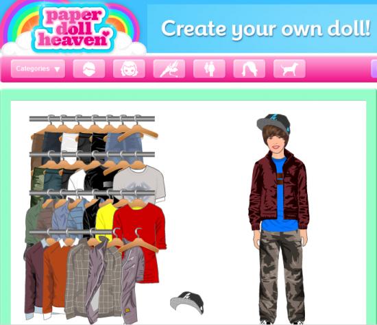 bieber doll. Dress Up Justin Bieber!