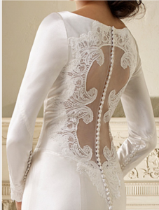 Bella wedding dress back aa 2