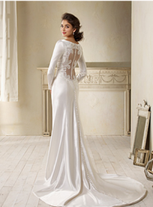 Bella wedding dress back aa 3