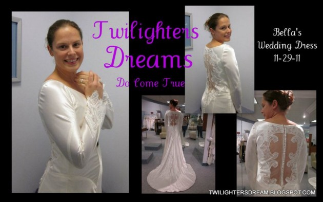 Fan Checks Out Bella\'s Wedding Dress | Twilight Lexicon
