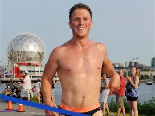 Charlie Bewley Runs For Cancer Charity In Underwear