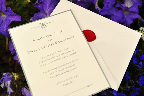 Bella And Edward Wedding Invitation