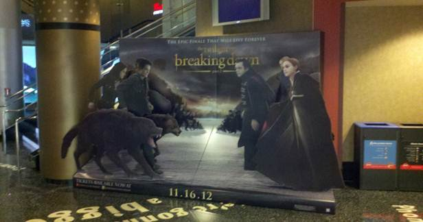 Breaking Dawn Standees And Banners Hit Movie Theatres