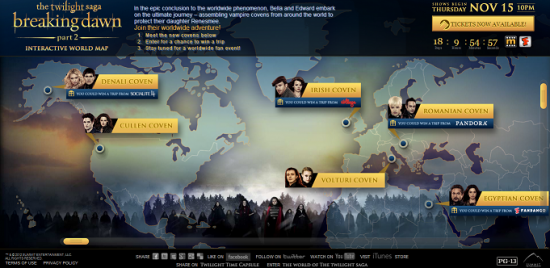 New interactive world map of the twilight saga twilight lexicon summit entertainment launches interactive world map of the twilight saga gumiabroncs Image collections